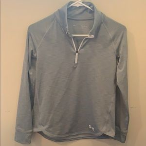 Under Armour Cold Gear Gray Zip Pull Over